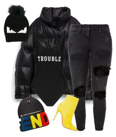 """""""Untitled #1687"""" by siedahsimmons ❤ liked on Polyvore featuring Fendi, Faith Connexion, Christian Louboutin and ADRIANA DEGREAS"""
