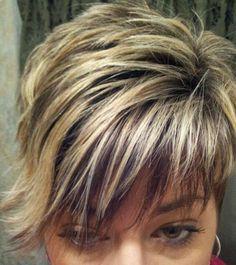 choppy highlighted hair styles - Google Search