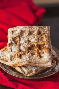 Healthy Cinnamon Roll Waffles- Have your house smelling like Cinnabon with these #healthy Cinnamon Roll Waffles which are #vegan #paleo and #glutenfree- High in #protein and completely #sugarfree- -thebigmansworld.com Healthy Cinnamon Rolls, Cinnamon Roll Waffles, Healthy Waffles, Dairy Free Milk, Waffle Iron, Coconut Flour, Projects, Keto