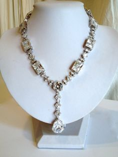 Vintage Diamond Estate Jewelry Necklace by WOWTHATSBEAUTIFUL