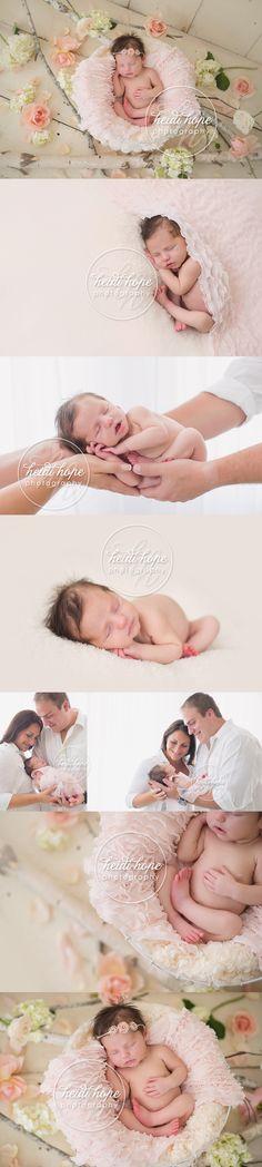 bebé recém-nascido com flores rosa . love me algumas flores e bebês!
