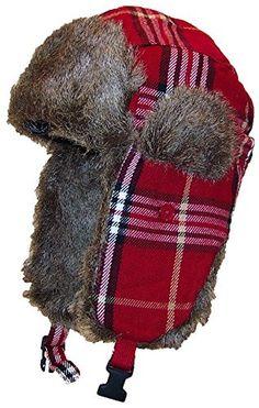 Best Winter Hats Adult Plaid Russian Trooper W Soft Faux Fur Hat (One Size) 3c8cbfbbf0b3