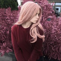 розовые волосы, блондинка, прическа, образ, стиль девушка