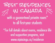 Thinking about living in Residence? Come take a look at our awesome residences! (Who wouldn't want their own room?