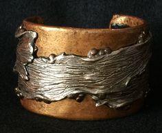 Cuff Bracelet Bangle Boho Polymer Clay Mid Century Modern Jewelry DRIFT by Donna…