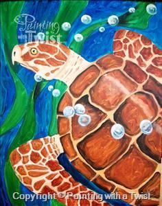 Family Paint All Ages**Save the Sea Turtles   3/17/2016 - Georgetown, TX