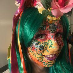 Sokkertantes Make-up 2017 - Mathildas Welt Colorful Wallpaper, Airbrush, Make Up, Body Art, Halloween Face Makeup, 2017 Makeup, Carnival, Body Painting, Air Brush Machine