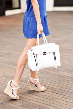 bright white bag #loveit #spring www.alittledashofdarling.com