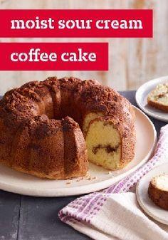Sour Cream-Orange Coffee Cake With Chocolate-Pecan Streusel Recipe ...