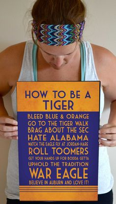 Auburn Tigers Art Print, Auburn Quote Poster Sign, Auburn Football Decor 11 x 17 on Etsy, $24.00