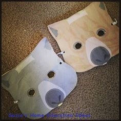 Wombat masks http://suzieshomeeducationideas.blogspot.com/2013/04/9-australian-animal-crafts.html