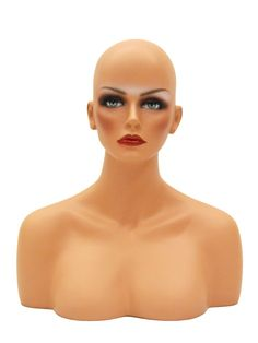 $50- flesh colored mannequin head with pierced ears for displaying earrings, necklaces or wigs