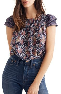 8999de05f9 Free shipping and returns on Madewell Fan Floral Mix Story Top at Nordstrom .com.