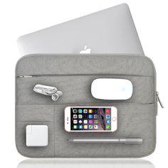 """2017 tas laptop untuk macbook 11 12 13 14 15 bestchoi padat lengan laptop untuk mac 13.3 """"portatil 14 kantung ordinateur funda untuk Pria"""