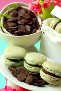 Whisk Kid: Minty Macs - {Chocolate and Mint Macarons}