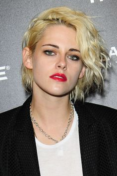 Spritz texturizing spray throughout hair for the ultimate Kristen Stewart-inspired sexy, messy waves.