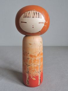 8 inch Japanese Sosaku Kokeshi Doll : signed Yusaku | eBay Japanese Doll, Vintage Japanese, Ichimatsu, Wooden Hand, Kokeshi Dolls, Hand Painted, Sculpture, Creative, Handmade