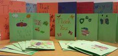 Cards from students in North Platte Nebraska