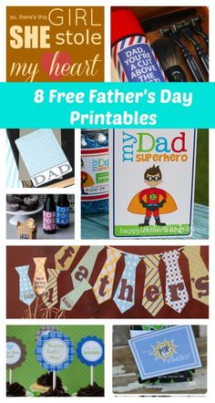 8 Free Father's Day Printables
