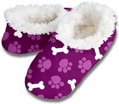 Paws and Bones Snoozies Slippers, $12.00