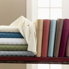 Classic Solid Sateen Tailored Bedskirt, drop at The Company Store - Bed Basics - Bedskirts - King Bedroom Retreat, Bedroom Decor, Bedroom Ideas, Cotton Bedding, Linen Bedding, Coastal Bedding, Bed Linens, Luxury Bedding, Bed Cover Design