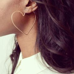 Heart Hoops // Gold Filled