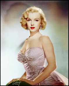 "Marilyn Monroe (MM) publicity photo for ""All About Eve"" color enhanced."