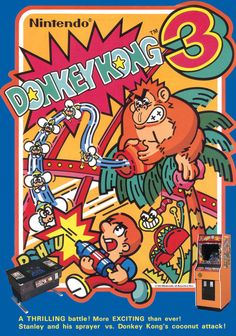 Arcade flyer for Donkey Kong 3.