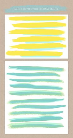 hand painted watercolor digital stamps for free download