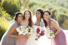 Pastel tulle bridesm