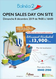 Balnéa 2 - Open Sales Day at Trou d'Eau Douce. Us Supreme Court, Alter, Email Marketing, Investing, Real Estate, Location Plan, Measuring Chart, Water