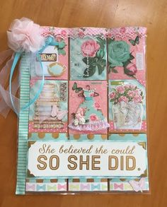 Pocket Letters ❤ She Believed she could - Pocket Letter - Scrapbook.com