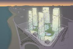When long time collaborators Design International approached us to involved in creating an iconic landmark on the Tangiers beach front, that would include a retail and leisure podium, with six individual towers we didn't need asking twice.  With so many new developments springing up along the coast line it was important to come up some something unique!  The project was presented to His Majesty King Mohammed VI King of Morocco in September 2008, and is currently in design development. Acton London, Drawing Board, Design Development, Towers, Marina Bay Sands, Morocco, September, Coast, Retail