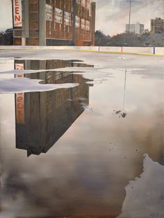 // Ryan Dineen—Game Over (2014) 48 x 36 oil on canvas