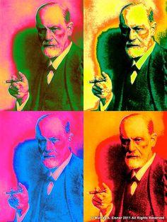 Sigmund Freud by Andy Warhol Art Prints, Andy Warhol Pop Art, Fine Art, Illustration, Visual Art, Art, Art Movement, Pop Art, American Artists
