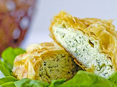 Savory Cheese & Spinach Strudel | Appetizer Recipes | artemis2854 | Just A Pinch Recipe Club
