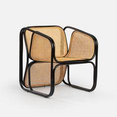 Doyle chair - bamboo - rattan - black – Casa Gitane