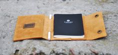 earthy colours Book Covers – Handmade leather cover for notebook, C012 Ginger – a unique product by menevolution via en.dawanda.com