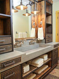 industrial style design for bathroom