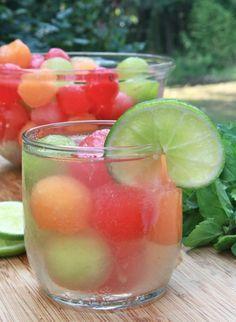 Melon Ball Punch Recipe (Virgin White Sangria) | Divas Can Cook