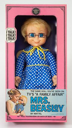 """Mrs. Beasley doll - I can still hear her voice:   """"Want to hear a secret? I know one."""""""