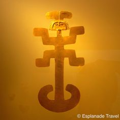 When Leah was in she visited the Museo del Oro (Museum of Gold). In Colombia, this symbol represents the which is associated with the regenerating powers of and the Colombian Art, Nazca Lines, Esoteric Art, Shades Of Gold, Ancient Artifacts, Ancient Civilizations, Gods And Goddesses, Stone Painting, Ancient History