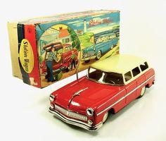 """1955 Ford 12.5"""" Station Wagon w/Original Box by Marusan NR"""