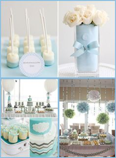 Boy baptism centerpieces, baptism party decorations, baby boy christening d Christening Party, Baptism Party, Baptism Ideas, Birthday Decorations For Men, Baby Shower Decorations, Boy Baptism Decorations, Balloon Decorations, Ideas Bautismo, Decoration Communion