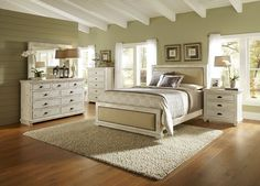 White Distressed Bedroom Furniture