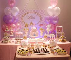 What a gorgeous pink princess party! See more party planning ideas at CatchMyParty.com!
