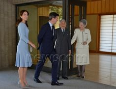 Crown Prince Frederik and Crown Princess Mary of Denmark lunch with Their Imperial Majesites Emperor Akihito and Empress Michiko of Japan day 3 3/28/2015