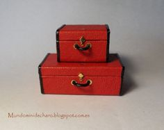 Small suitcase, style, Miniature 1/12 Scale from Mundomini on Etsy