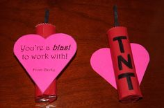 This Valentine is the bomb!  Made these Rolo sticks of dynomite for my co-workers!