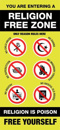 #religion free zone #atheist #atheism    www.GeorgiaUnity.blogspot.com    www.ReligionKillsEverything.blogspot.com